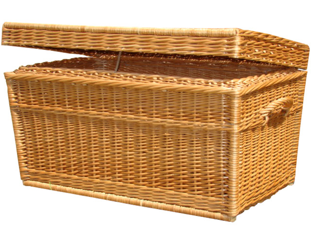 Kufry wiklina naturalna